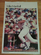 Vintage 80s Mike Marshall No 5 Los Angeles Dodgers Sports Illustrated Poster