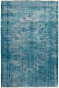 Antique Distressed Traditional Overdyed Hand-made Evenly Low Pile Area Rug 8x11