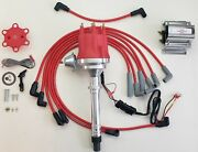 Chevy Gmc 4.3l 262 Efi To Carb Swap Red Hei Distributor + 60k Coil + Plug Wires