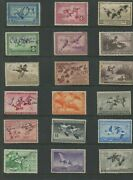 United States Federal Hunting Duck Stamps Rw1-rw54 Used F/vf Set