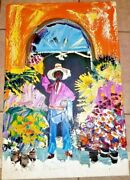 Paul Blaine Henrie Impasto Painting On Canvas -and039the Vendor Of Chapalaand039