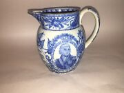 Lc2 Historical Staffordshire Lord Nelson Pitcher Ship Victory Pearlware Ca. 1820