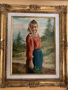 Giulio Bargellini 1875 - 1936 Oil Painting On Wooden Panel Italy. Signed And Fr