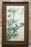Antique Chinese Original Watercolor Painting Signed And Sealed