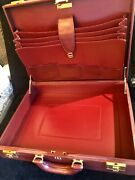2 C Collectible Hardsided Large Briefcase. Gently Used. Elegance At Best