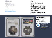 Toned Multi- Colour 1967 Canada Flying Goose 1 Ngc Grade Sp 67