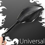 Vawik Motorcycle Mirrors 100 Carbon Fiber Panther Handcrafted Fits M8 Scooters