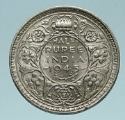 1945 L India States Uk George Vi Antique Old Silver 1/2 Rupee Indian Coin I83261