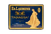 Rare 1920s Tanagra Egyptian Hinged 50 Cigarette Tin In Excellent Cond.