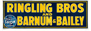 Circus Poster Ringling Bros. Barnum And Bailey 1944 Linen Banner 40.5x118 Vf 7.5