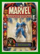 Marvel Poseable Diecast Mr. Fantastic Error Card Ultra-rare Moc Toy-biz