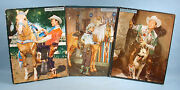 1953 + 1956 + 1958 Roy Rogers 3 Frame Tray Photo Puzzles Whitman Trigger Bullet