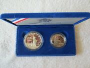 1986 Us Liberty Proof Coin Set, Silver Dollar And Clad Half