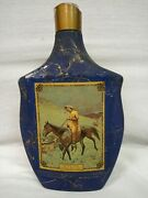 Vintage 1968 Jim Beam On The Trail Frederic Remington Decanters Empty Bottle