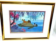 Disney Cel Jungle Book Floating Down The River Animation Art Rare Edition Cell