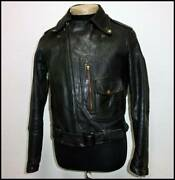 Vintage 1950and039s Hercules Horsehide Motorcycle Jacket Outerwear Rare