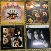 Beatles Embossed Metal Album Cover Art Signs - Collectible Set Of 4