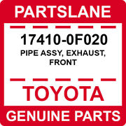 17410-0f020 Toyota Oem Genuine Pipe Assy Exhaust Front