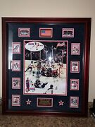 1980 Miracle On Ice Autographed Custom Framed Team Picture Cards And Patch Ed