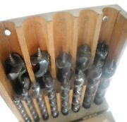 Winchester Auger Bit Set In Fitted Box - Full Set Of 13 Solid Center Drill Bits