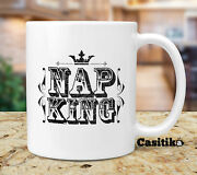 Lazy People Coffee Mug, Nap King - Gifts For Lazy People That Love To Sleep