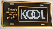 Vintage Kool Sign - There's Only One Way To Play It License Plate Cigarette Ad