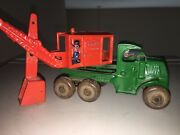 Antique Cast Iron Hubley Toy Steam Shovel Truck Andldquogeneralandrdquo