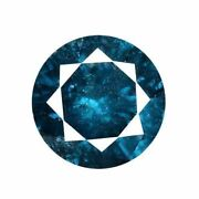1.00 Cts Certified Round Blue Natural Diamonds Loose Si 2- I Clarity   Bda18