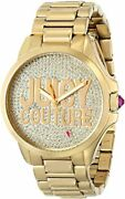 Juicy Couture 1901148 Jetsetter Gold Tone Steel Crystal Womenand039s Watch