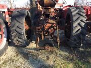 2 18.4 X 30 Tractor Titan Tires 99 Tread Bolted To 9 Bolt Steel Rims No Air