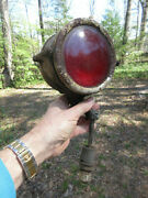 1920's 1930s Brass Era Police Fire Ambulance Emergency Light Dual Sided Red Lens