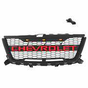 Front Grille For Chevrolet Colorado 2016-2019 Black Mesh Grill With Red Letters