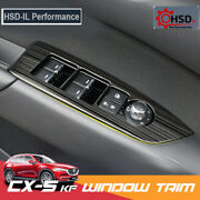 Steel Car Window Switch Adjustment Knob Panel Cover For Mazda Cx5 Kf Lhd 17 -20