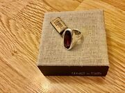 Nwt Uno De 50 Silver-plated Ring/oval Amethyst Color Crystal Mombasa 8.50