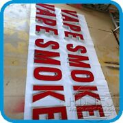 Customs Channel Letter Vape Smoke Sign With Led And Power Supply.16in Tall