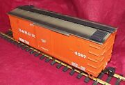 Lgb G Scale D And R G Wooden Box Car Lgb 4067 With Lgb Knuckle Couplers