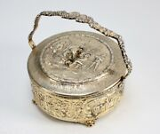 Antique Derby S P Co. 793 Repousse Gold Washed 50th Year Anniversary Candy Dish