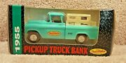 1993 Ertl 1/25 Scale Diecast 1955 Pickup Truck Chevy Bank Coin True Value 12