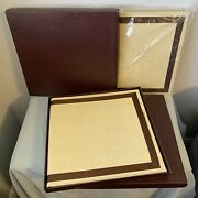 Brand New Z Gallerie Bamboo Photo Albums Lot Of 2 4x6 Photos