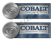 Two Cobalt Stickers For Boat Restoration - 10 Long Each