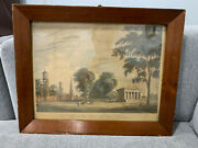 Antique 19th Cent. Yale College And State House New Haven Connecticut Engraving