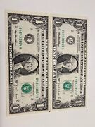 2 Consec,unc 1995 Andyen1 Experimental Web Fed Press Missing Check Letter Frn Rare!