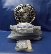 Set Of 4 Nos Genuine Gm 14 Wire Spoke Wheel Cover Hub Caps With Hardware
