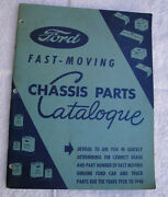 Original Ford Printing Fast Moving Chassis Parts Dealer Catalogue 1928 To 1948