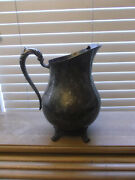 Vtg F. B. Rogers Silver Co. Silver On Copper 3707 Silver Plated Pitcher /ice Lip