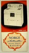 1940's Norge Automatic Electric Ranges Brochure New Springfield Oh Local Stamp