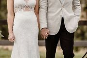 New 18 Metres Bridal Corded Lace Fabric/material Wedding Dress Or Bride Robe