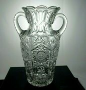 Superior Quality 12 High Signed Sinclaire S In Wreath 2 Handle Amphora Vase