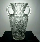 Superior Quality, 12 High, Signed Sinclaire, S In Wreath, 2 Handle Amphora Vase
