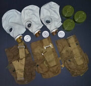 3 New Russian Civil Gas Mask Nuclear Biological Chemical Nbc Gp-5 Adult S-size